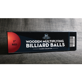 """Wooden Billiard Balls (2"""" Red) by Classic Collections"""