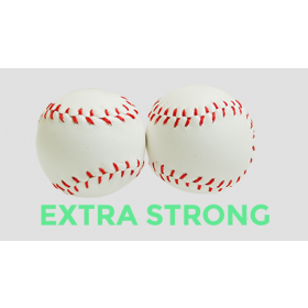 Strong Chop Cup Balls White Leather (Set of 2) by Leo Smetsers