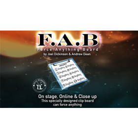 FAB BOARD A5/BLUE (Gimmicks and Online Instruction) by Joel Dickinson & Andrew Dean