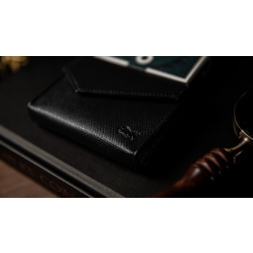 Luxury Leather Playing Card Carrier (Black) by TCC