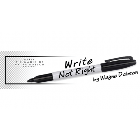 Write, Not Right Sharpie (Gimmicks and Online Instructions) by Wayne Dobson